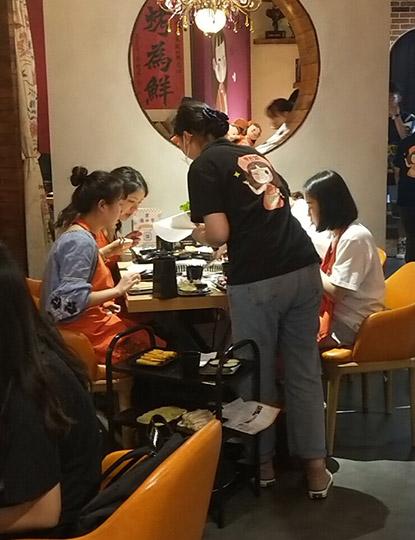 雅莉家成都韩式烤肉馆门店